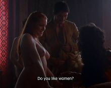 Game of Thrones nude and lesbian scene