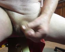 68 yrold Grandpa #164 mature cum close closeup wank uncut