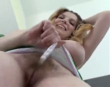 Girl with hairy pussy and armpits - 2