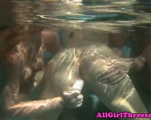 Dyke dildo fucked under water in during fff