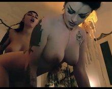 Goth Lesbians With Dildo