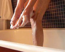 Washing my pretty feet