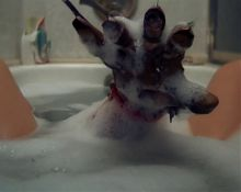 Young Heather Langenkamp takes a bath