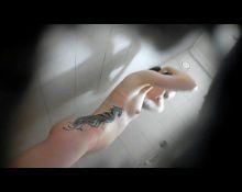 Sporty chick hidden shower
