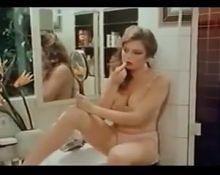 80s slut with big natural tits masturbates with pleasure