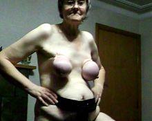 granny tied tits