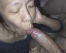 Chinese mature sucking dick