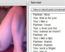 Chatroulette bitch cum on