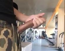 He is horny at the gym