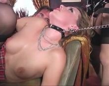 The Mistress with her female and male slave