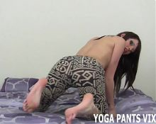 You always stare when I do my yoga JOI