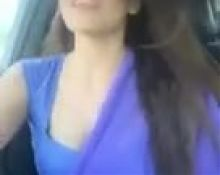 sexy girl in sareedancing in car.mp4