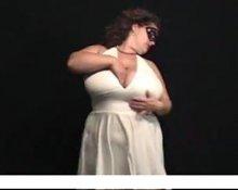 HUGE TIT BBW White Dress