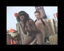 Cumshot On Cute Ebony Babe BVR