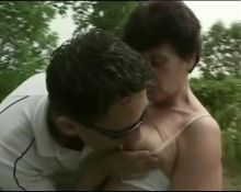 Hairy Granny Fucked In The Countryside