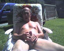 Grandpa outdoor cum
