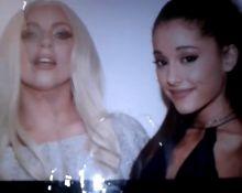 Lady Gaga & Ariana Grande Cum Tribute