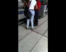 Candid Bubble butt ebony at FLL airport 1
