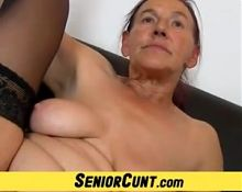 Hairy grandma pussy in POV feat. Linda