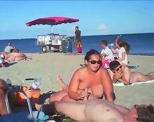 Crowded Beach BJ