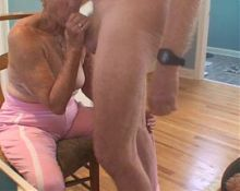 Granny sex and cumshot
