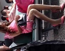 Pink Dress Pink Heels
