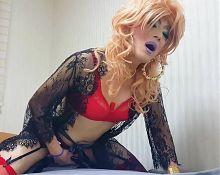 sissy niclo sexy girl makeup masturbation2