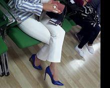 Mature fr's sexy high heels dangling stilettos