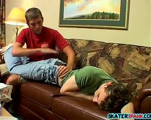 Christian Taylor teaching Kenny Crusoe a raw spanking lesson