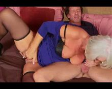 Silver Fox Granny in Stockings gets Anal and CIM 178.SMYT